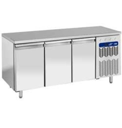 Diamond Ventilated freezer table-static | 3 Doors | Temperature: -10 ° -20 ° | 600x400