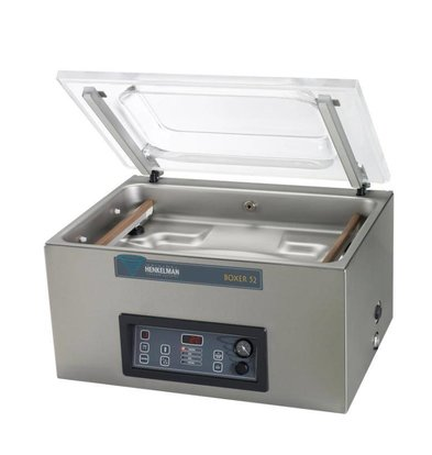Henkelman Vacuummachine Boxer 52 - Dubbele Seal Balk | Henkelman | 021m3 / 20-40 sec | Afm. Kamer 360x520x(h)185mm