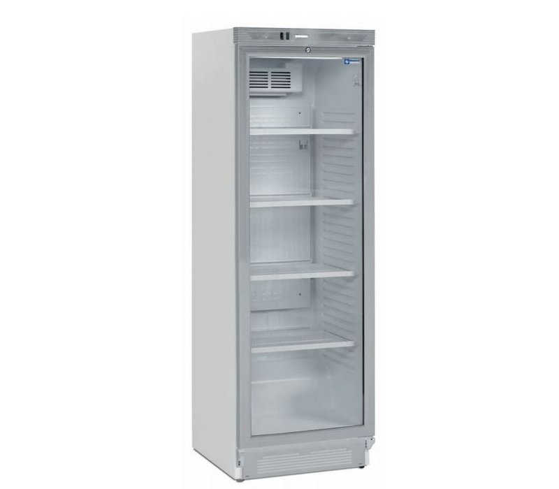 Diamond Koelkast - 380 Liter - Glazen deur - 59x60x(h)184cm - Links en Rechts Draaiende Deur