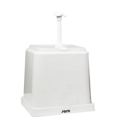 Saro Saus Dispenser - Wit - 2 Liter - Basic