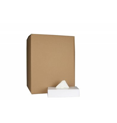XXLselect Facial Tissues Vierkant | Cellulose 2 laags | 20,5 x 20,5cm | 40 x 100 in Doos | (ook Pallets) Prijs per 4000 Tissues