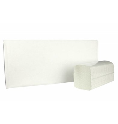 XXLselect Towels ZZ-fold | Recycled | 2 ply, 23 x 25cm | 15 x 215 sheets in Box | (also Pallets) Price per 3225 sheets