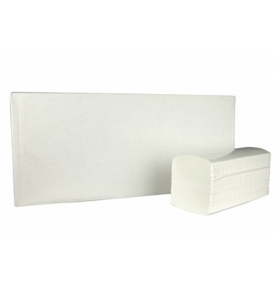 XXLselect Interfold towels | Cellulose | 2 ply, 42 x 22cm | 20 x 120 sheets in Box | (also Pallets) Price per 2400 sheets