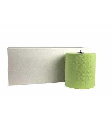 XXLselect Handdoekrol HPG | Matic Groen | 2 laags | 21cm x 150 meter op Rol | (ook Pallets) Prijs per 6 Rollen