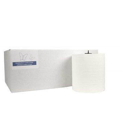 XXLselect Handdoekrol HPG | Matic Cellulose | 2 laags | 21cm x 150 meter op Rol | (ook Pallets) Prijs per 6 Rollen