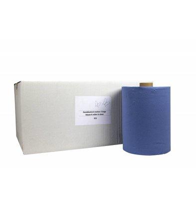 XXLselect Handdoekrol HPG | Motion Blauw | 2 laags | 24 m x 150 meter op Rol| (ook Pallets) Prijs per 6 Rollen