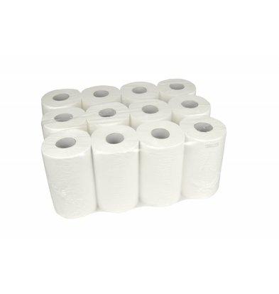 XXLselect Handdoekrol Mini | Cellulose | 1 laags | 20cm x 120 meter op Rol | (ook Pallets) Prijs per 12 Rollen