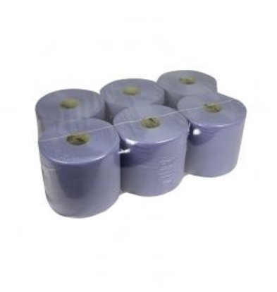 XXLselect Handdoekrol Midi | Blauw | 1 laags | 20cm x 300 meter op rol | (ook Pallets) Prijs per 6 Rollen