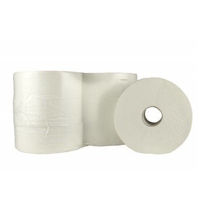 XXLselect Toilet Maxi Jumbo | Cellulose second layer | (also Pallets) Price per 6 x 380 meters | ECO-Label