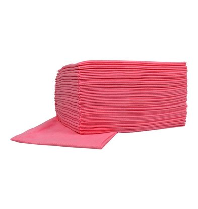 XXLselect Non-woven Cleaning Cloths Food | Pink | 45 x 50cm | 10 x 25 pieces in box | (also Pallets) Price per 250 Cloths