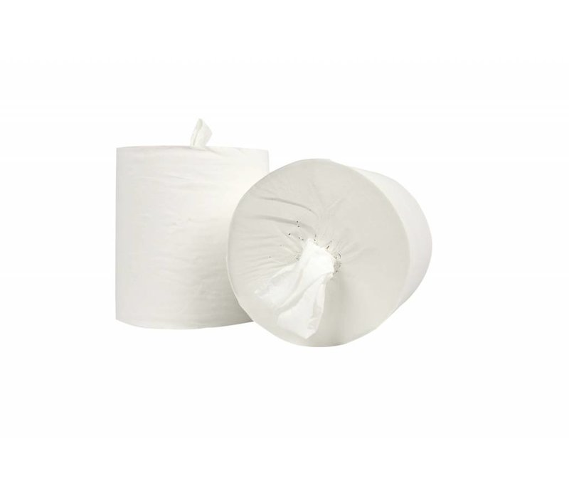 XXLselect Handdoekrol Midi Zonder Koker | Cellulose | 1 laags | 20cm x 300 meter op rol | (ook Pallets) Prijs per 6 Rollen