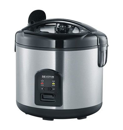 XXLselect Double-walled stainless steel Rice Cooker | 1.8 Liter | Removable bowl Non-stick coating | Extra Basket | Ø29x (H) 29cm