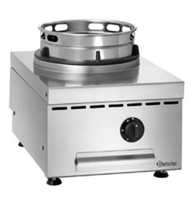 Bartscher Gas Wok Tafelplaat | RVS | Verstelbare Voeten | 400x600x(H)415mm