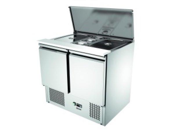 Bartscher Saladière 900T2 | Luchtgekoeld | Condensverdamper | 260 Liter | 900x700x(H)870mm