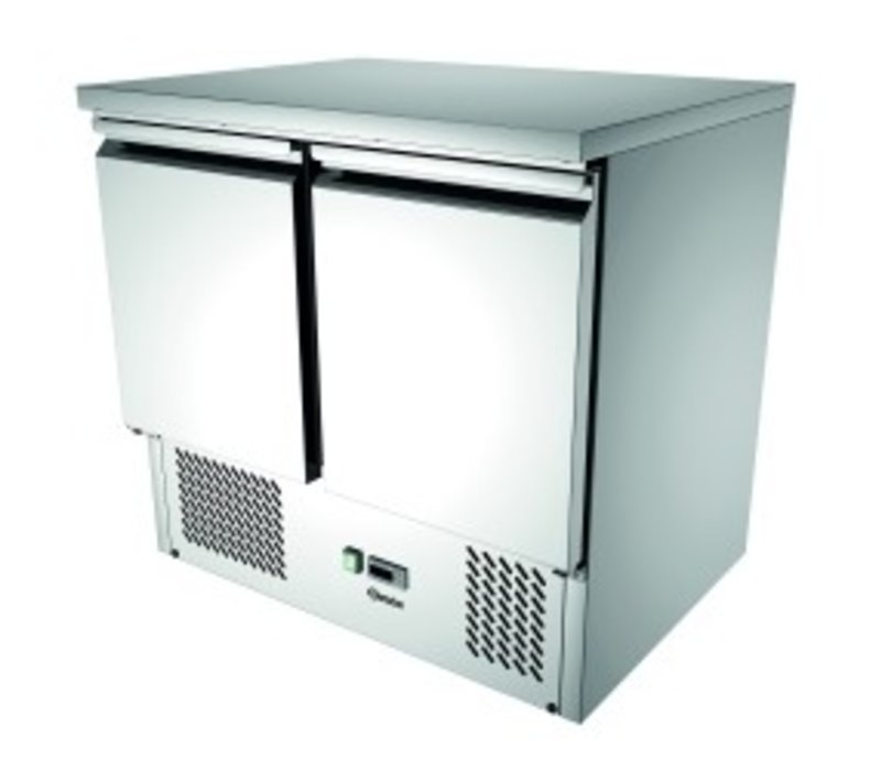 Bartscher Mini Koelwerkbank 900T2 | 2 Deurs | Luchtgekoeld | 260 Liter | 900x700x(H)870mm