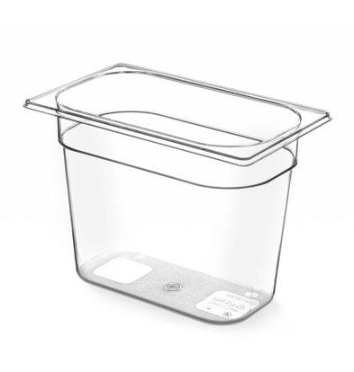Hendi Gastronormbak 1/4 - 100 mm - BPA-free Tritan