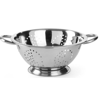Hendi Colander Stainless steel kitchen | On Foot | With two Handles | Ø280x (H) 135mm