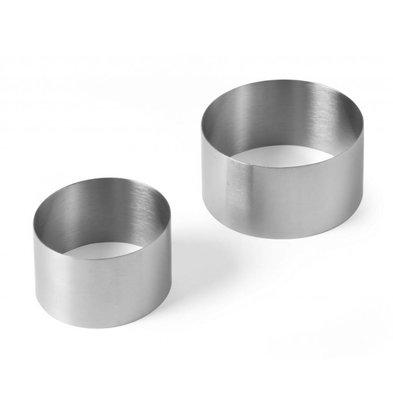 Hendi Taartring RVS | Ø90x(H)50mm