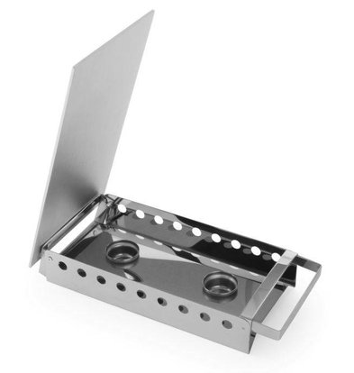 Hendi Dish Warmer 2-burner stainless steel - 330x180x65 mm