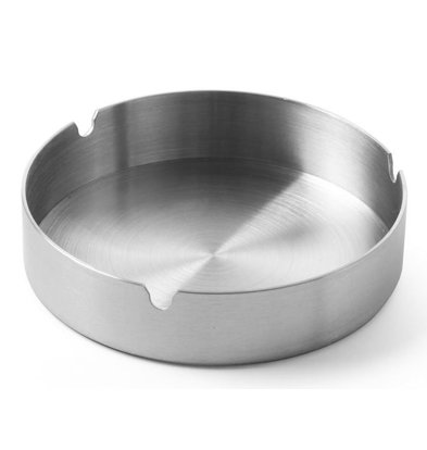 Hendi Stainless steel ashtray | Stackable | Ø120x (H) 28mm
