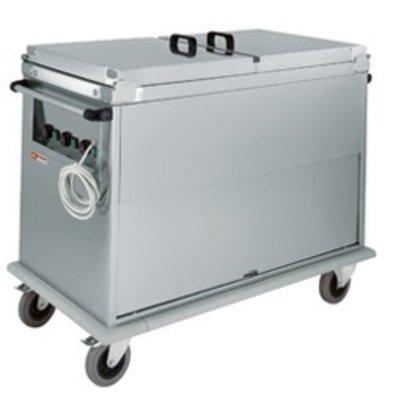 Diamond Bain Marie trolley 2 x 1/1 GN   Revolving door   1.2 kW   950x700x (h) 970 mm
