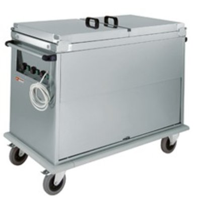 Diamond Bain Marie Wagen 2x GN 1/1 | Draaideur | 1,2 kW | 950x700x(h)970 mm