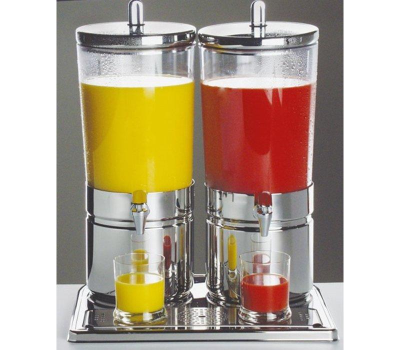 APS FSE Sapdispenser met 2 Koelelementen | 2 x 6 Liter met Aftapkraan | 420x320x(h)520 mm