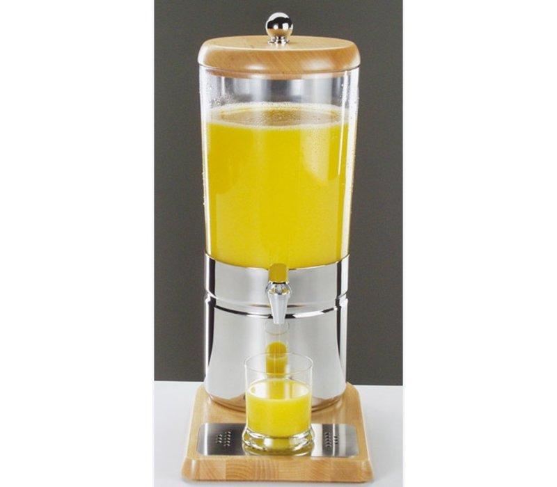 APS FSE Sapdispenser met 1 Koelelement | Houten stijl | 6 Liter met Aftapkraan | 230x350x(h)520 mm