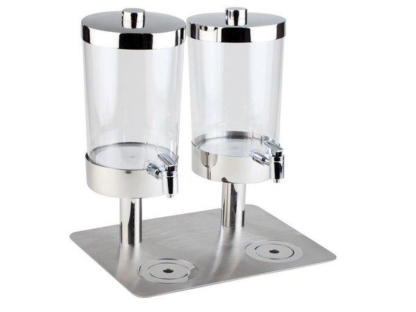 APS FSE Sapdispenser met 4 Koelelementen | 2x6 Liter met Aftapkraan | 350x450x(h)480 mm