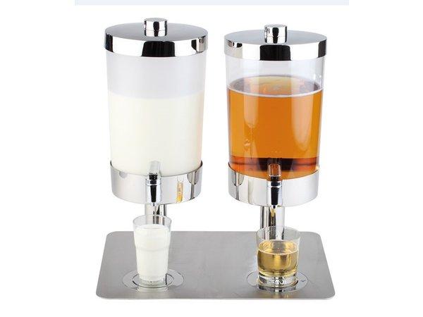APS FSE Melk / Sapdispenser met 4 Koelelementen | 2x6 Liter met Aftapkraan | 350x450x(h)480 mm