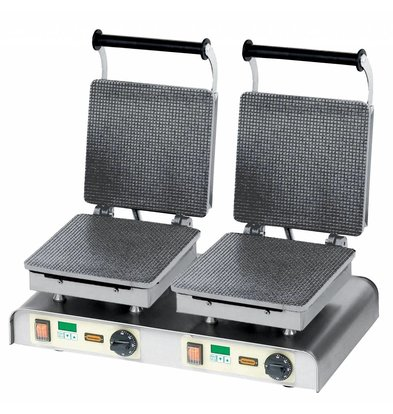 Neumarker Stroopwafel Iron Double - For Fairs and Markets Stores - 600x340x (h) 250mm - 4,4Kw - 400V