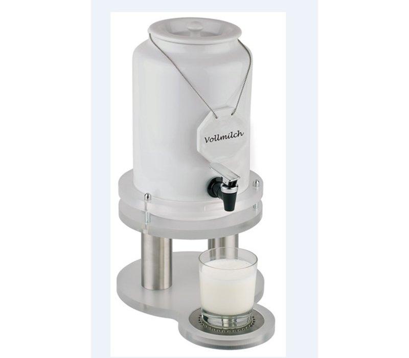 APS FSE Melkdispenser met Koelelement in voet | 4 Liter met Aftapkraan | 310x210x(h)420 mm