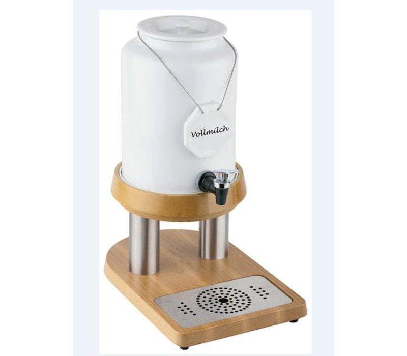 APS FSE Melkdispenser met Koelelement in voet | Houten stijl | 4 Liter met Aftapkraan | 230x320x(h)420 mm