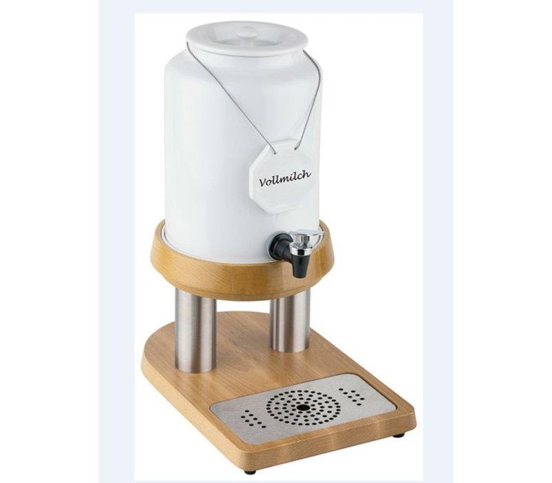 APS FSE Melkdispenser met Koelelement in voet | Houten stijl | 10 Liter met Aftapkraan | 270x385x(h)450 mm