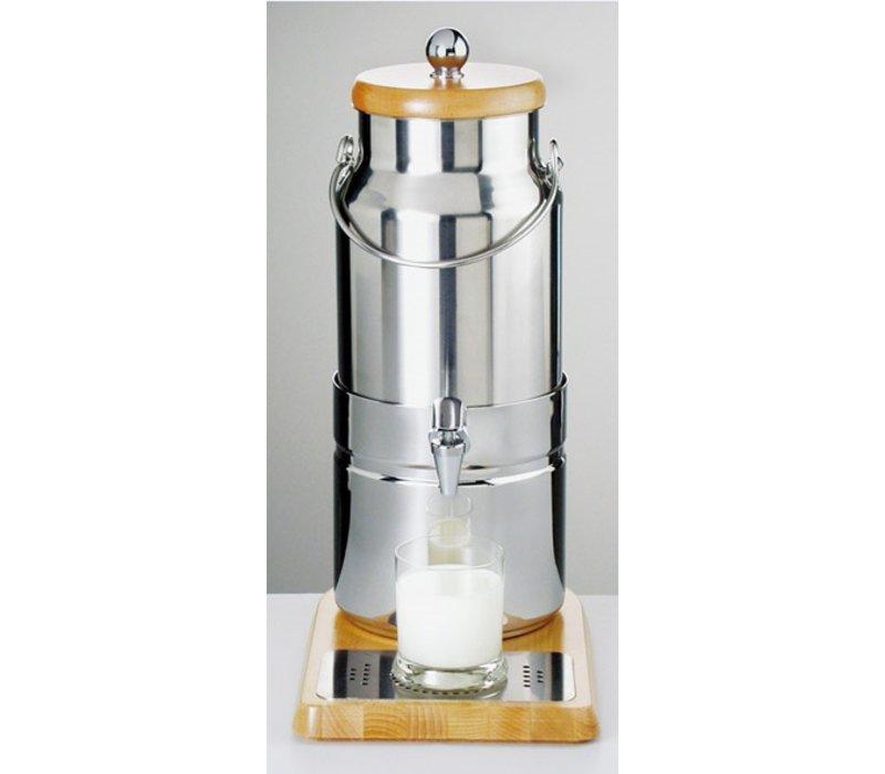 APS FSE Melkdispenser met Koelelement in voet | Originele Melkbus | 5 Liter met Aftapkraan | 230x350x(h)470 mm