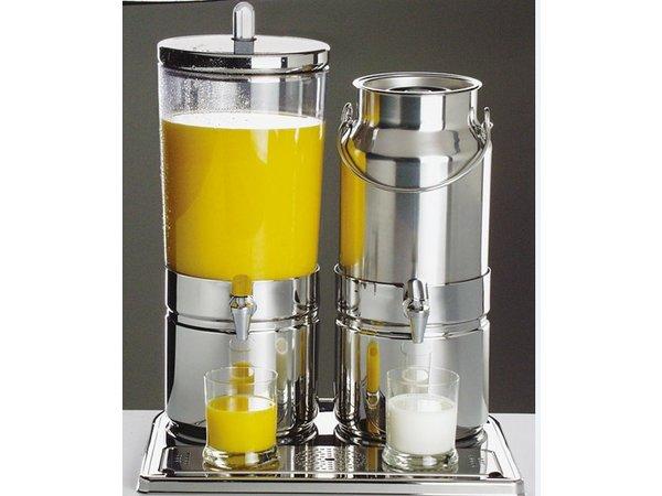 APS FSE Melk / Sapdispenser   2 Koelelementen met aftapkraan   6+5 Liter   420x350x(h)520 mm