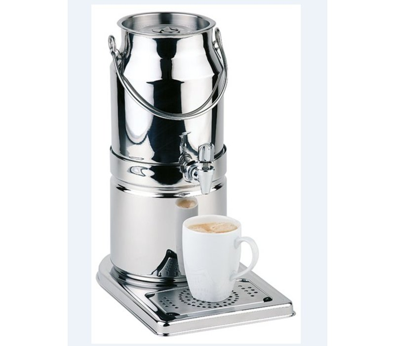 APS FSE Melkdispenser Spiegel afwerking | Originele Melkbus | 3 Liter met Aftapkraan | 210x320x(h)390 mm
