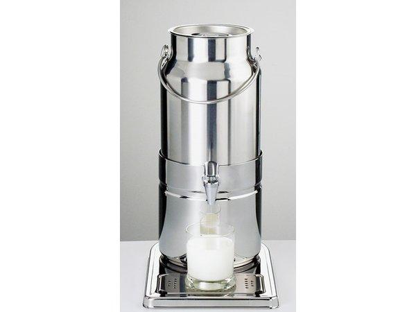 APS FSE Melkdispenser Spiegel afwerking | Originele Melkbus | 5 Liter met Aftapkraan | 230x350x(h)450 mm