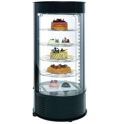 Neumarker Pastry Display Case Black 4 floors - Ø435x (h) 970 mm