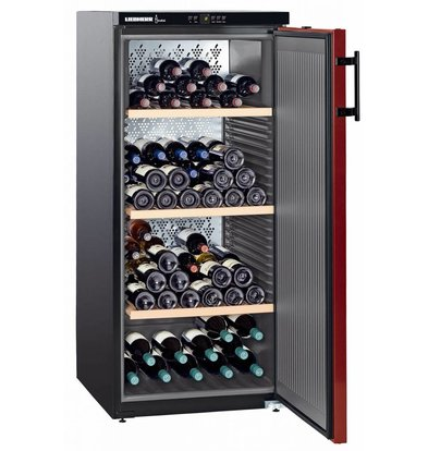 Liebherr Wine Fridge Black / Burgundy - Close Door | 164 Bottles | Liebherr | 322 Liter | WKr 3211 | 60x74x (h) 135cm