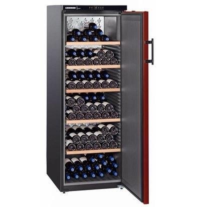 Liebherr Wijnklimaatkast Zwart/Bordeaux Rood | 200 Flessen | Liebherr | 409 Liter | WTr 4211 | 60x74x(h)165cm