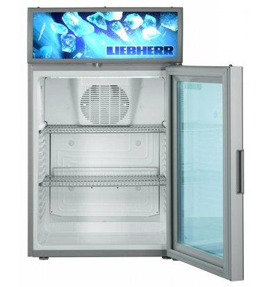 Liebherr Display Fridge Steel Gray with Glass Door   Liebherr   417 liters   BCDv 3713   50x55x (h) 82cm