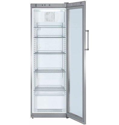 Liebherr Refrigerator Dynamic Steel Gray | Glass Door | Liebherr | 388 Liter | FKvsl 4113 | 60x61x (h) 180cm