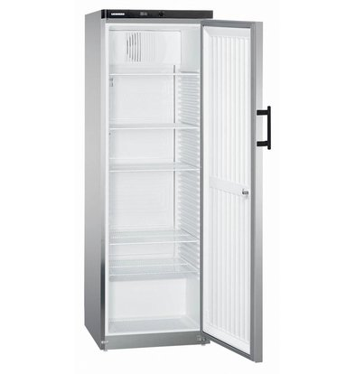 Liebherr Refrigerator Steelgray Gastronomy | Small 60cm wide | Liebherr | 445 Liter | Gkvesf 4145 | 60x61x (h) 180cm