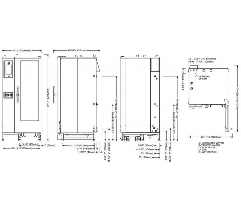 alto shaam combi therm oven | combisteamer | alto shaam ctp20-10g  proformance | gas