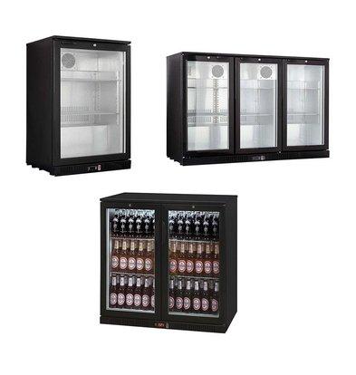 XXLselect Bar Fridge / Bottle Cooling - Black - 3 Sizes - 1/2/3 Doors - 138L - 208L - 330L