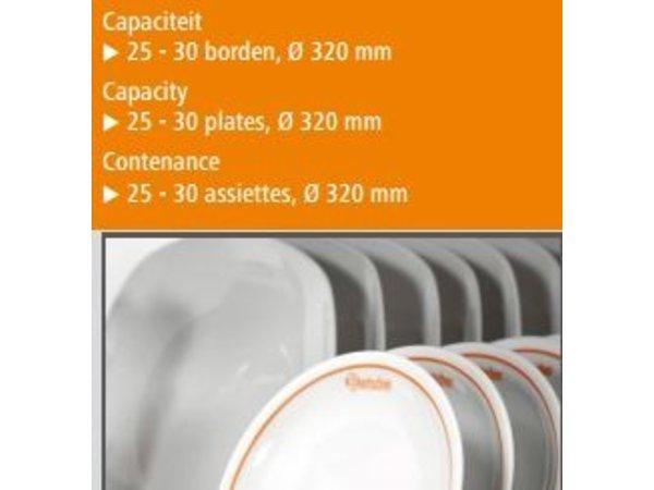 Bartscher Bordenwarmer 25 - 30 Borden - 0.4 kW - 45x40,5x(h)54,5cm