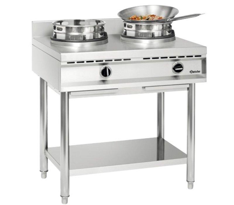 Bartscher Gas wokplaat 2 extra sterke branders - 20.000W
