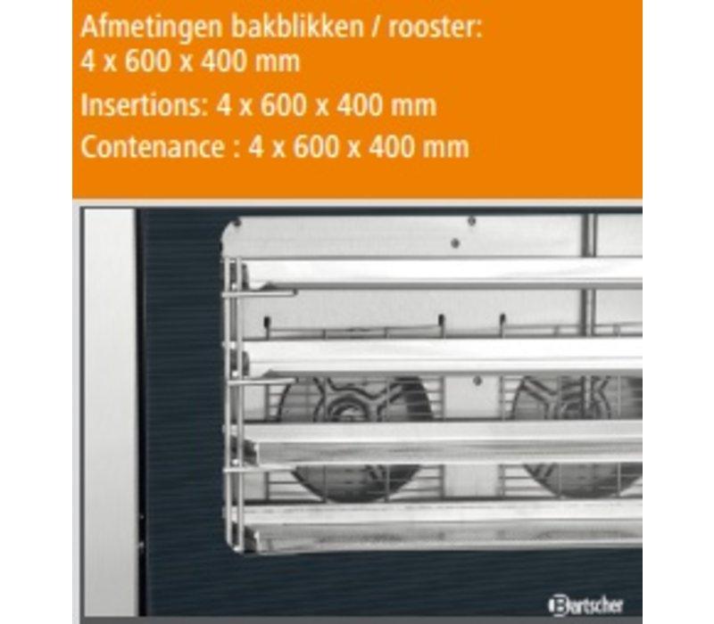 Bartscher Bakkerij Afbakoven AT400 met vochtinjectie - 835x800x570(h)mm - voor 4 x 600x400mm