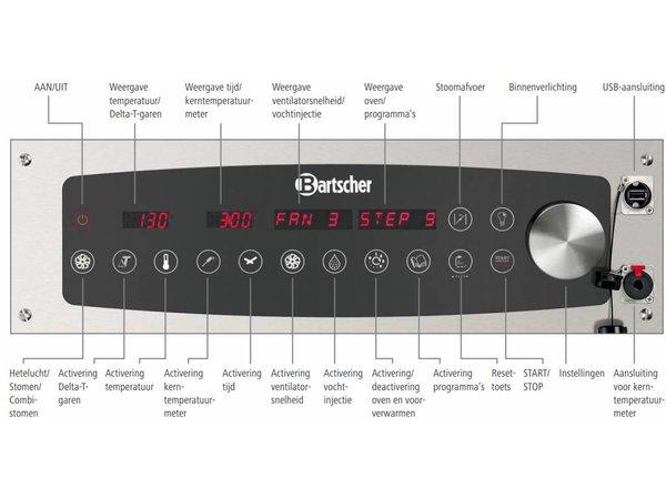 Bartscher Combi-Steamer - 6 x 1/1 GN - 11 Inschuifelementen - 52x85 x(h)77cm